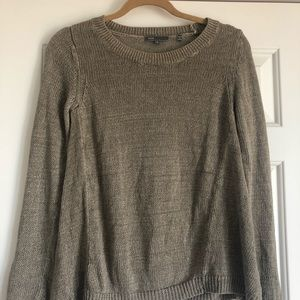 VINCE small knit brown grey sweater